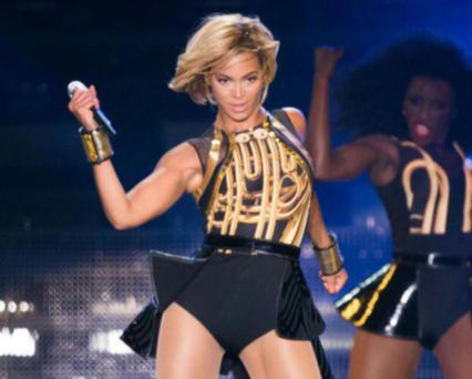 Beyonce performs live as she headlines the Virgin Media Stage on day 1 of V Festival at Hylands Park on August 17, 2013 in Chelmsford, England. (Photo by Samir Hussein/WireImage)
