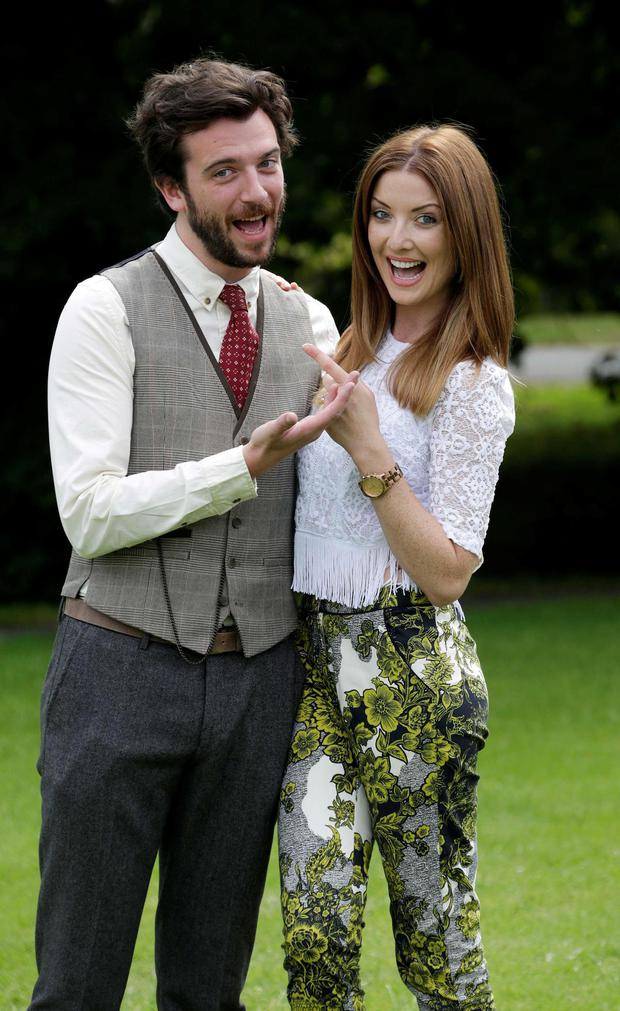 Republic of Telly's Kevin McGahern and Jennifer Maguire pictured at the launch of the new RTE Television schedules for Autumn/Winter 2013/14 at RTE, Donnybrook. Picture Colin Keegan, Collins Dublin.