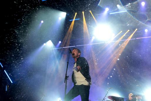 1/8/13 Blur's Damon Albarn in concert at IMMA in Dublin. Picture:Arthur Carron/Collins