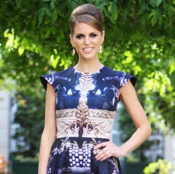 Style icon Amy Huberman is among the stars who favour Katrantzou for high profile appearances