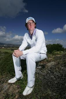 2007 Rory McIlroy poses at The Estoril Open de Portugal at The Quinta da Marinha Golf Course in Cascais, Portugal.