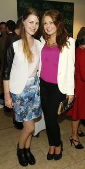 Sinead VanKampen and Stephanie Whisker at the launch of the Marks Spencer 2013 Autumn Winter Collection in the Royal Hibernian Academy on Ely Place