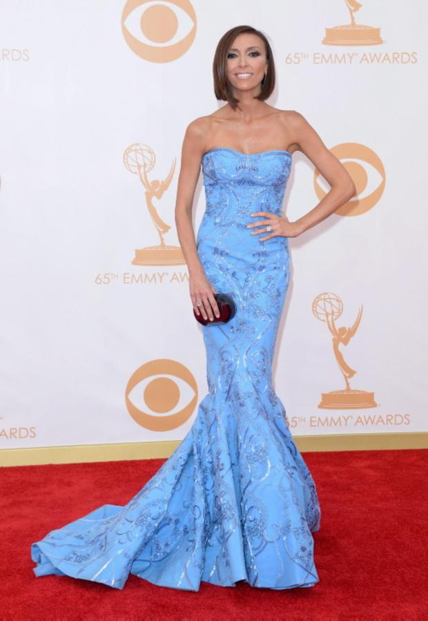 LOS ANGELES, CA - SEPTEMBER 22: TV personality Giuliana Rancic arrives at the 65th Annual Primetime Emmy Awards held at Nokia Theatre L.A. Live on September 22, 2013 in Los Angeles, California. (Photo by Jason Merritt/Getty Images)