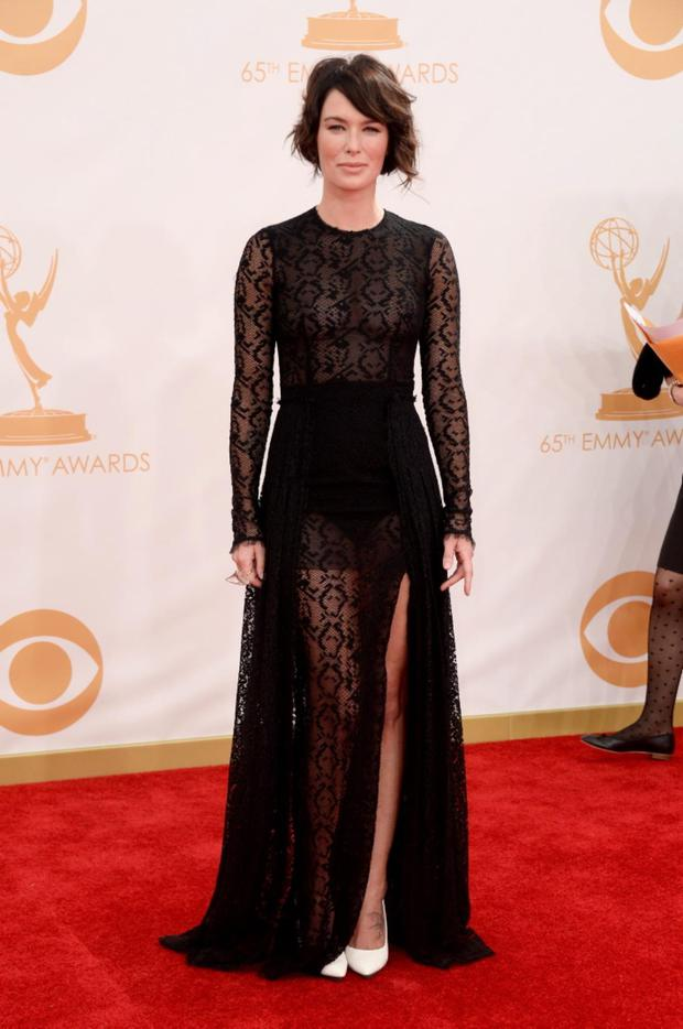 Actress Lena Headey arrives at the 65th Annual Primetime Emmy Awards held at Nokia Theatre L.A. Live on September 22, 2013 in Los Angeles, California. (Photo by Frazer Harrison/Getty Images)