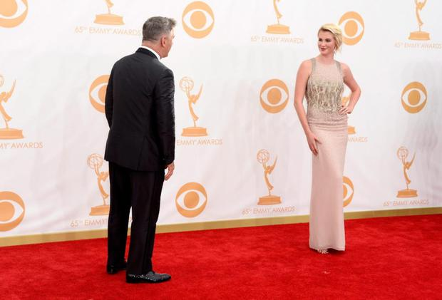 Actor Alec Baldwin and model Ireland Baldwin arrive at the 65th Annual Primetime Emmy Awards held at Nokia Theatre L.A. Live