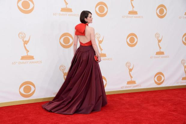 Actress Michelle Dockery arrives at the 65th Annual Primetime Emmy Awards held at Nokia Theatre L.A. Live on September 22, 2013 in Los Angeles, California. (Photo by Jason Merritt/Getty Images)