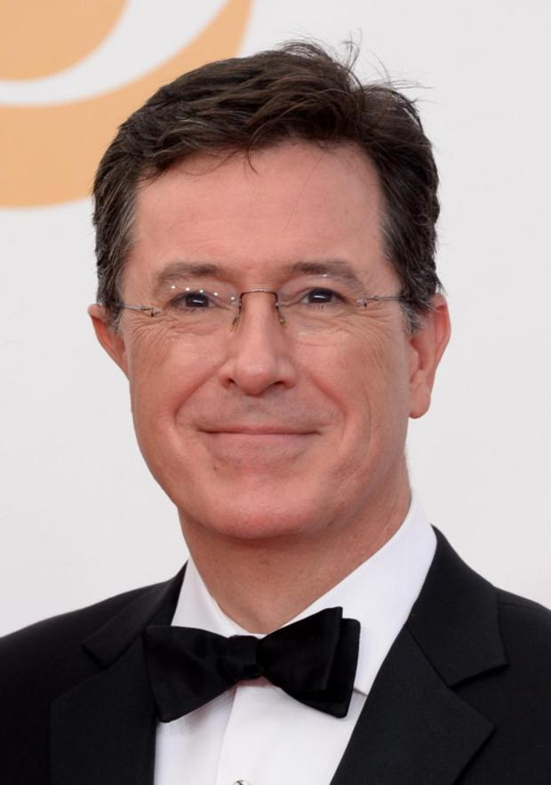 LOS ANGELES, CA - SEPTEMBER 22: TV personality Stephen Colbert arrives at the 65th Annual Primetime Emmy Awards held at Nokia Theatre L.A. Live on September 22, 2013 in Los Angeles, California. (Photo by Jason Merritt/Getty Images)