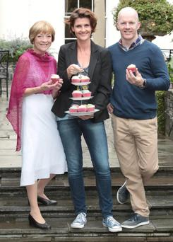 Biddy White Lennon, Anna Nolan and Executive Pastry Chef Paul Kelly, at the launch of TV3's 'The Great Irish Bake Off' in 2014. Photo: Brian McEvoy