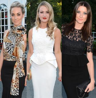 (L to R) Kathryn Thomas, Aoibhin Garrihy and Jennifer Maguire at the People of the Year Awards