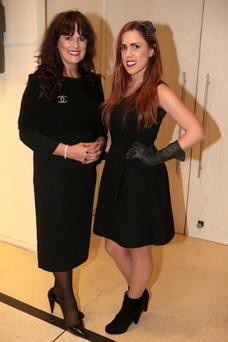 Michelle Rocha and daughter Natasha at the launch of the Louise Kennedy Autumn/Winter 2013 collection at the Hugh Lane Gallery in Dublin.