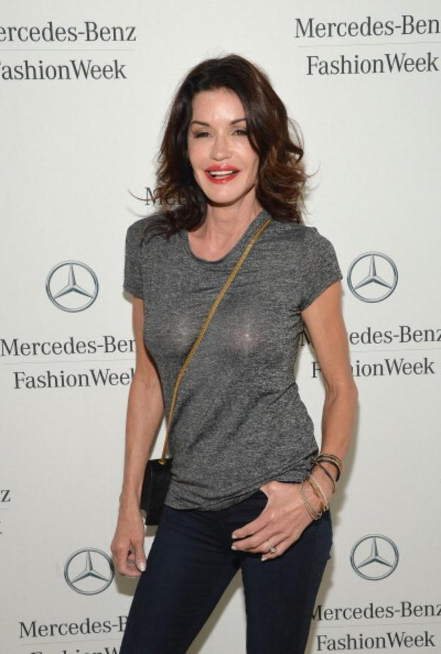 Janice Dickinson attends the Mercedes-Benz Star Lounge during Mercedes-Benz Fashion Week Spring 2014 on September 8, 2013 in New York City. (Photo by Mike Coppola/Getty Images for Mercedes-Benz)