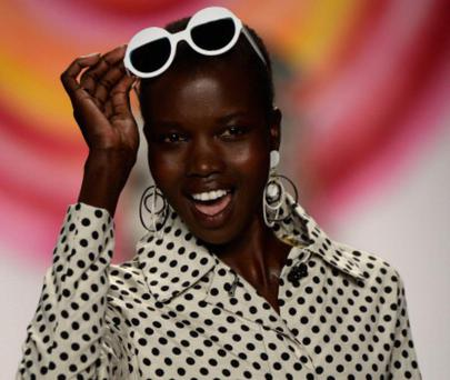 NEW YORK, NY - SEPTEMBER 05: A model walks the runway at the Desigual Spring 2014 fashion show at The Theatre at Lincoln Center on September 5, 2013 in New York City. (Photo by Frazer Harrison/Getty Images)