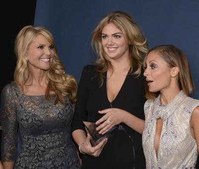 Model Christie Brinkley, winner of Model of the Year Kate Upton and host Nicole Richie