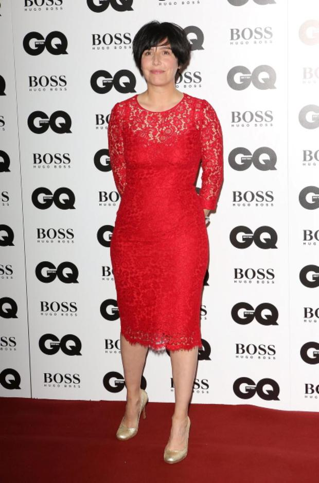 Sharleen Spiteri kept it simple in red lace. A glamorous pair of chandelier earrings could have topped this look off fantastically.