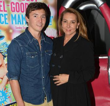 Caroline Downey and son Jett Desmond
