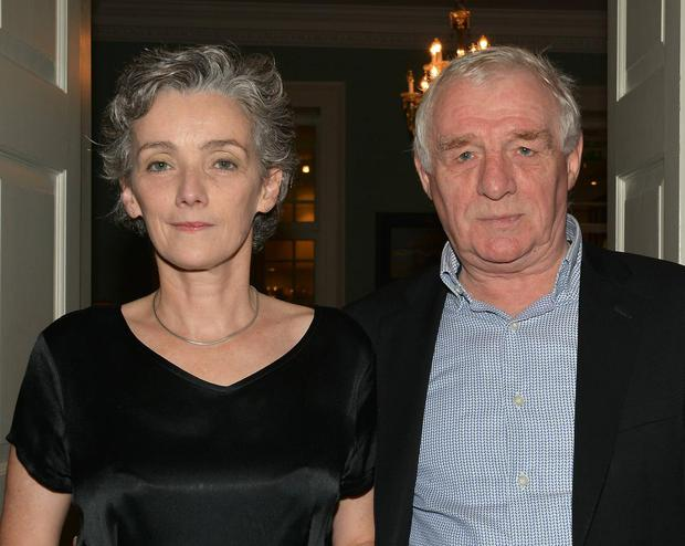 Jane Gogan pictured with her husband Eamon Dunphy