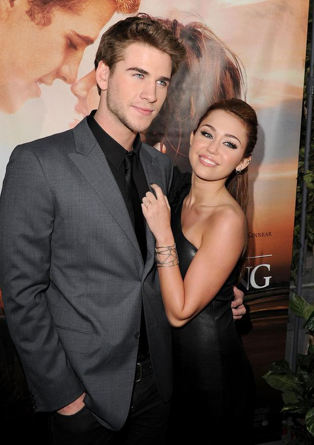 Liam Hemsworth and Miley Cyrus in 2010.
