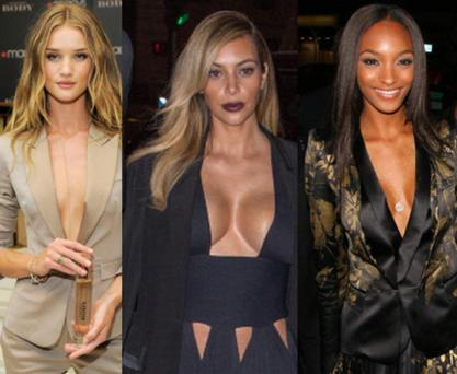 (L to R) Rosie Huntington-Whiteley, Kim Kardashian and Jourdan Dunn have also tried the trend recently