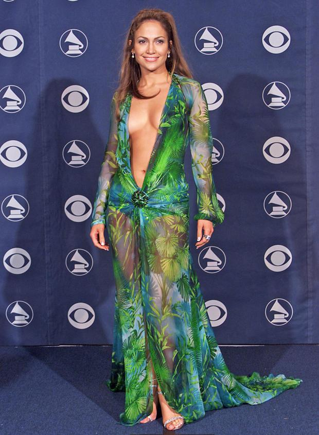 Jennifer Lopez in that Versace dress at the 2000 Grammys
