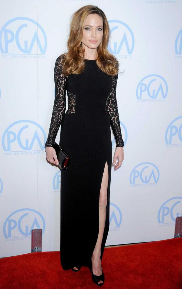 Oscar winner Angelina Jolie brought a chicer twist to the gown