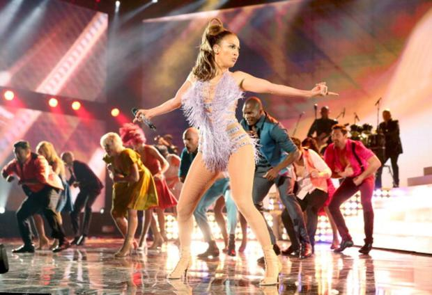 Singer Jennifer Lopez performs onstage during the 2013 American Music Awards