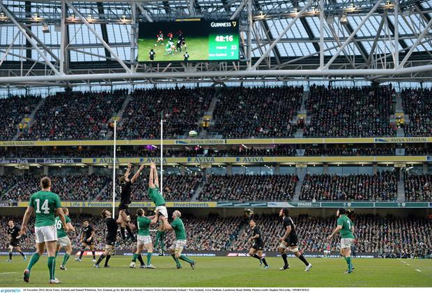 The atmosphere during Ireland's narrow defeat to the All Blacks in 2013 was unforgettable