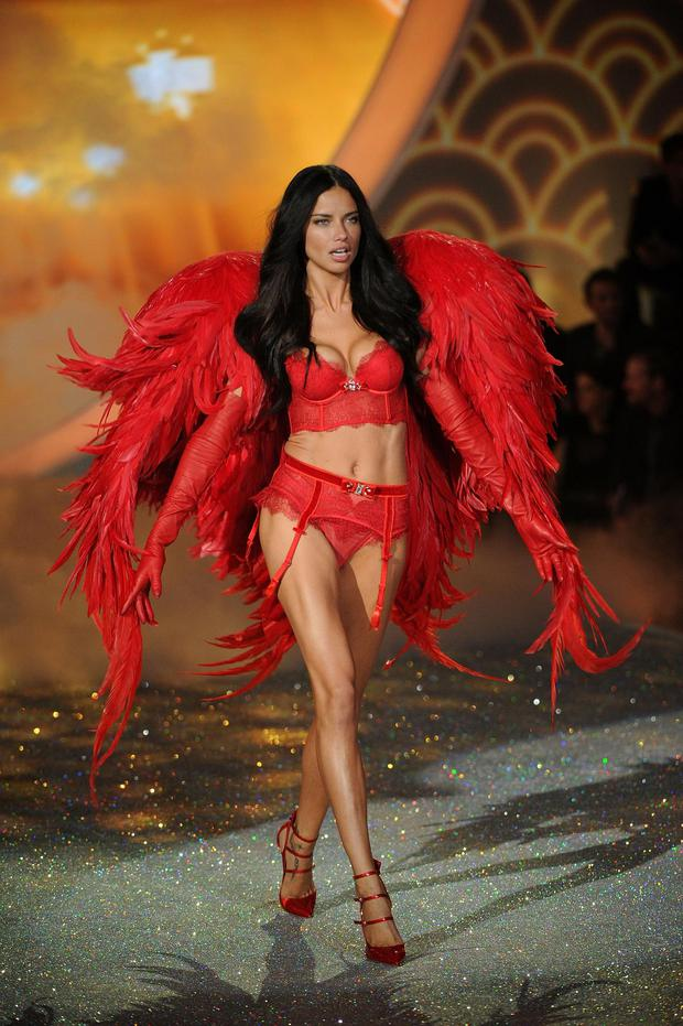 Adriana Lima walks the runway at the Victoria's Secret Fashion Show
