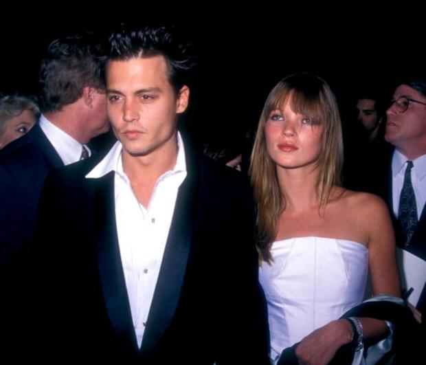 Johnny Depp and Kate Moss in 1992