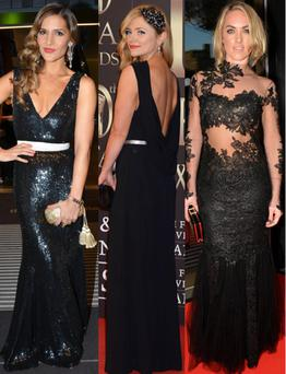 Beautiful in Black: Amanda Byram, Karen Koster and Kathryn Thomas are just some of the Irish celebrities who rocked the new LBD (Long Black Dress) on the red carpet this year.