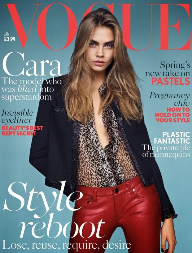 Cara Delevingne has been Vogue UKs cover girl