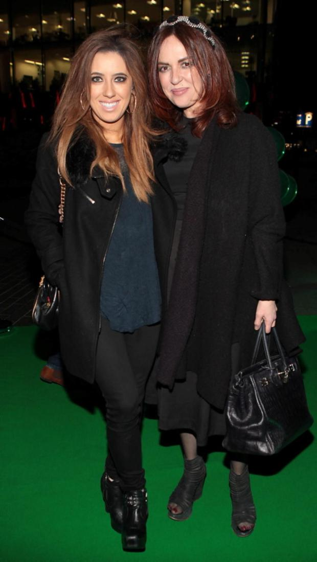 Lottie Ryan and Morah Ryan at the opening night of the musical Wicked at The Bord Gais Energy Theatre in 2014.