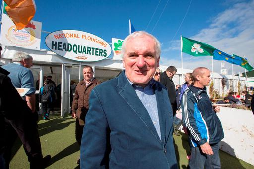 Former Taoiseach Bertie Ahern at the 2015 National Ploughing Championships in Ratheniska, County Laois