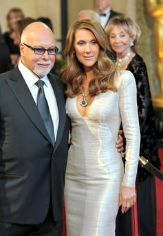 Celine and her manager husband Rene