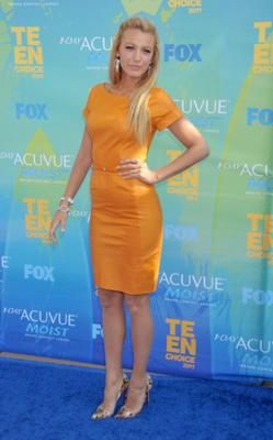 How to work a yellow leather dress: the latest style masterclass by Blake Lively. (Photo by Gregg DeGuire/FilmMagic)