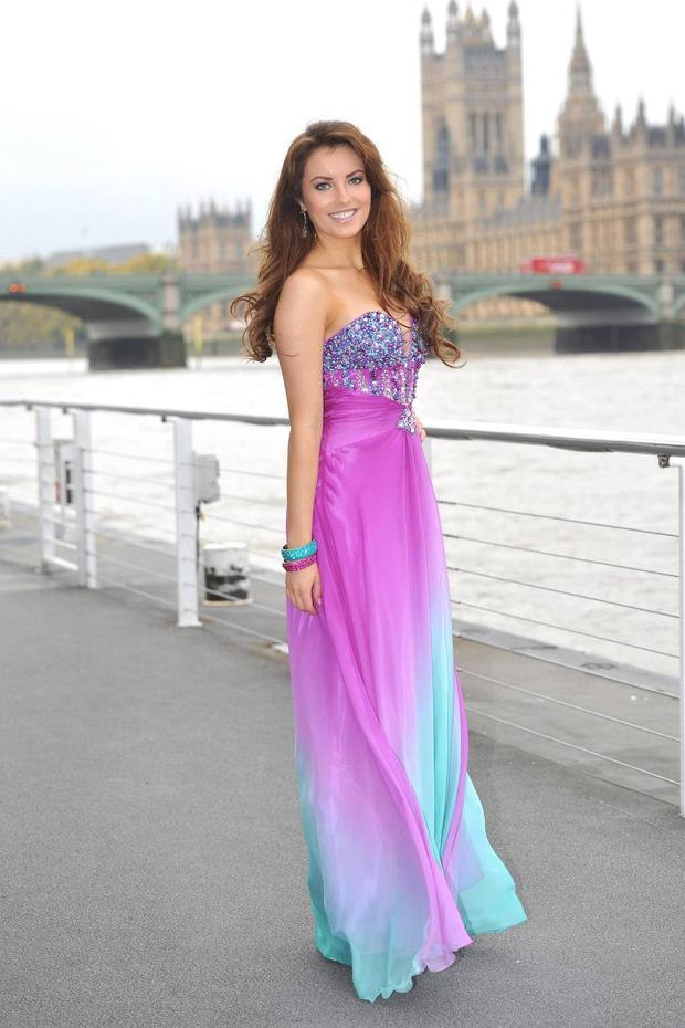 Holly Carpenter representing Ireland at the Miss World competition in London in 2012.