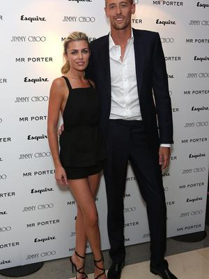 Model Abbey and footballer husband Peter Crouch
