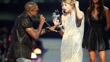 He's the father of a baby Kardashian and rap royalty, but in popular culture, we all remember Kanye West interrupting Taylor Swift's acceptance speech for Best Female Video in 2009. West insisted Beyonce's song Single Ladies was the 'Video of the Decade' to a flabbergasted Swift.