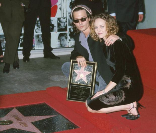 Johnny Depp and Vanessa Paradis as hes honoured with a star on the Hollywood Walk of Fame
