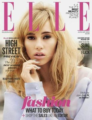 Supermodel Suki Waterhouse (and Bradley Coopers girlfriend) covers UK Elle