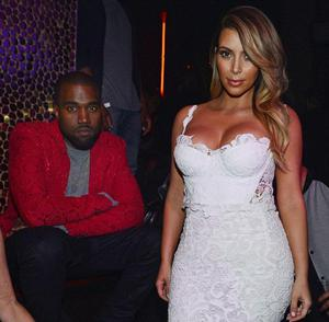 She wore white once again to celebrate her 33rd birthday in Las Vegas with Kanye West and her family. This equally sheer and tight number shows off her incredible 50lb weight loss