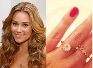 The Hills star Lauren Conrad announced her engagement to boyfriend of two years, William Tell, by posting this photo on her Instagram account.