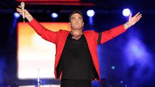 Robbie Williams onstage at the Capital FM Summertime Ball at Wembley in London.