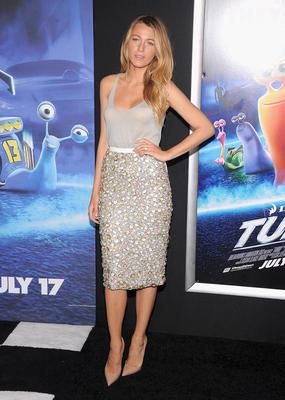 The actress rocked embellished metallics at the premiere of Turbo last summer