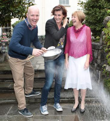 Executive Pastry Chef Paul Kelly,Anna Nolan and Biddy White Lennon, at the launch of TV3's 'The Great Irish Bake Off', sponsored by Odlums at The Merrion Hotel,Dublin .The Great Irish Bake Off airs Thursday 19th September, at 9pm on TV3.  TV3 launched 'The Great Irish Bake Off' at the Merrion Hotel Dublin, home of Executive Pastry Chef Paul Kelly. Paul will judge this year's Great Irish Bake Off contestants alongside fellow judge, actor and food writer Biddy White Lennon.    Pix Brian McEvoy No repro fee for one use