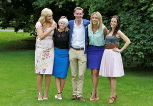 From left, Miriam O'Callaghan, Sinead Kennedy, Ryan Tubridy, Kathryn Thomas and Maia Dunphy pictured at the launch of the new RTE Television schedules for Autumn/Winter 2013/14 at RTE, Donnybrook. Picture Colin Keegan, Collins Dublin.