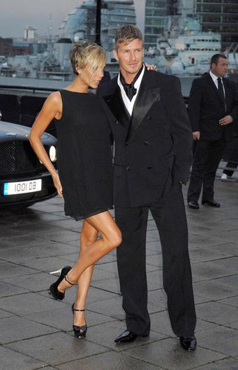Victoria Beckham and David Beckham during Sport Industry Awards 2007 - Red Carpet Arrivals at Old Billingsgate in London, Great Britain. (Photo by Sylvia Linares/FilmMagic)