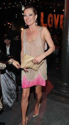 Kate Moss does sheer at 2010's Love Ball London. She's often photographed bra-less.