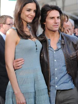 BEVERLY HILLS, CA - MARCH 28:  Actors Tom Cruise and Katie Holmes arrive at The ReelzChannel World premiere of 'The Kennedys' at AMPAS Samuel Goldwyn Theater on March 28, 2011 in Beverly Hills, California.