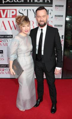 Sonya Lennon and Brendan Courtney are their typically stylish selves.