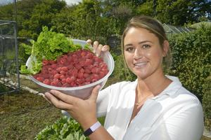 Bearing fruit: Rebecca Scott set up a catering business and shop/kitchen - Rebecca's Kitchen & Farm Shop - on the family farm near Kilbrittain  Photos: Denis Boyle